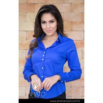 Camisa Social Tradicional Azul