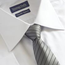 Camisa Social Tricoline 100% Algodão Egípcio Fio 80 Branca
