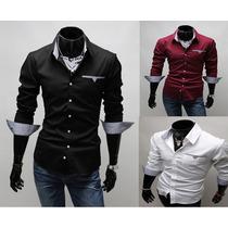 Camisa Social Slim Fit Importada( 15 A 45 Dias P\ Chegar )