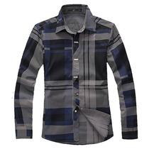 Camisa Importada Slim Fit Xadrez Pronta Entrega