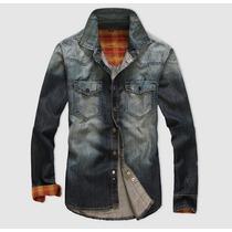 Camisa Jeans Masculina Excelente Qualidade Pronta Entrega