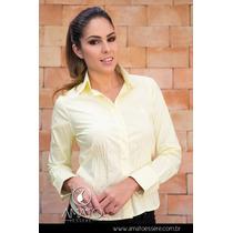 Camisa Amarela Com Nervuras - 1015