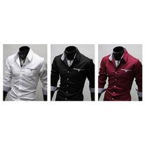 Camisa Social Slim Fit Pronta Entrega Casual Luxo