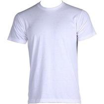 10 Camisetas Branca Malha Pv Lisa Anti Pilling