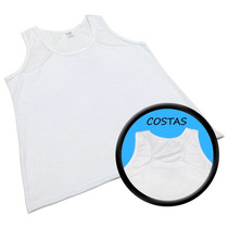 Kit 10 Regatas Fem Branca Sublimação Dry-fit 100% Poliester