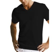 Calvin Klein- Camisa Básica Gola V - Algodão Preta E Branca