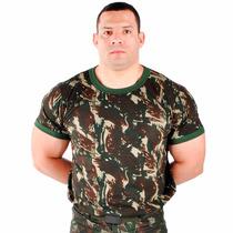 Camiseta Malha Camuflada Padrão Exército Brasileiro P Ao Gg