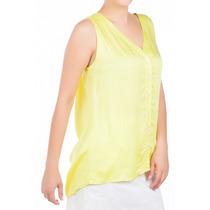 Camisa Regata Amarela Maxi Decote