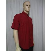 Camisa Social Masculina Manga Curta Preta Em Microfibra