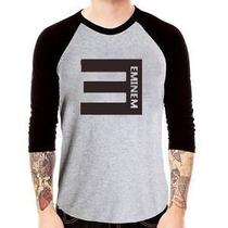 Camisa Eminem Raglan 3/4 Camiseta Rap