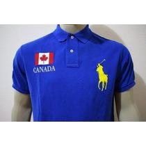 Camisa Gola Polo Custom Fit Canada Polo Ralph Lauren