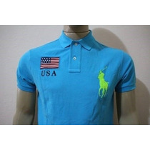 Camisa Gola Polo Custom Fit United States Polo Ralph Lauren
