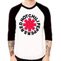 Camiseta Raglan 3/4 Unissex Red Hot Chili Peppers