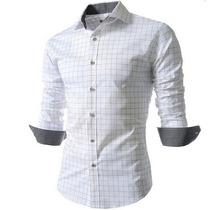 Camisa Xadrez Casual Masculina