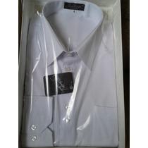 Camisa Social Masc. Manga Longa - Número 04 Cor: Branco