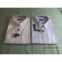 2 Camisas Mac Clem Ref. 1031-01 Tam. 4(42) Branco E Azul.