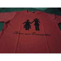 Camisa Amor Sem Preconceito Vermelha, Homem Cadeirante