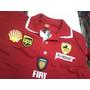 Camisa Importada Ferrari Gola Dupla - Modelo Novo