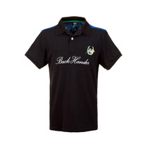 Camisa Polo Back Hander Preta - Club Polo Collection