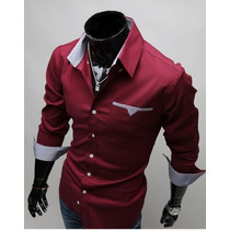 Camisa Social Slim Fit Importada Masculina
