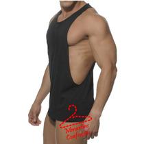Camiseta Regata Cavada Musculação E Outros Tecido Dry Fit