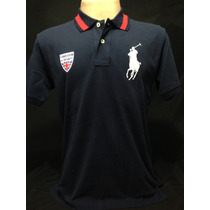 Camiseta Polo Ralph Lauren Azul Marinho Big Poney Tam P