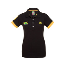 Camisa Polo Feminina Jamaica Preta - Club Polo Collection