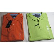 2 Camiseta Tommy, Hilfiger: Tam. M Laranja , E Verde Tam. G