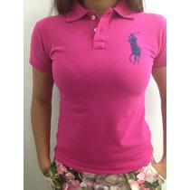 Camisa Blusa Feminina Polo Ralph Lauren Jockey Bordado