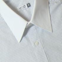 Camisa Social 100% Algodão Gola Branca 50 1008