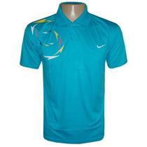 Camisa Polo Nike Azul Claro Poliéster Várias Cores Original