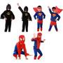 Fantasia Criança - Homem Aranha, Super Homem, Batman