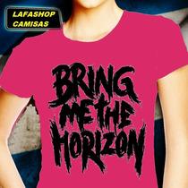 Camiseta Bring Me The Horizon Camisa Baby Feminina Mulher