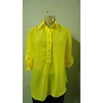 Blusa De Crepe De Seda Amarela