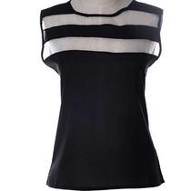 Camisa Blusa Chiffon Sem Mangas Leve Para Verão