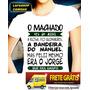 Camiseta Baby Look Feminina Machado Jorge Amado Bandeira