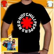 Camiseta Redhot Chili Peppers Rhcp Camisa Banda Nirvana Red