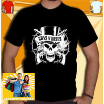 Camiseta Guns Roses Camisa Guns Roses Ramones Nirvana Metal
