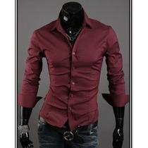 Camisa Social Slim Importada Tk09, A Pronta Entrega