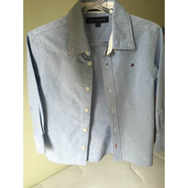 Camisa Tommy Hilfiger Nunca Usada Original Tam 3 Anos Azul