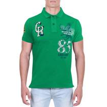 Camisa Polo Verde Chassi&co Slim Fit Estilo Luxo Moda Balada