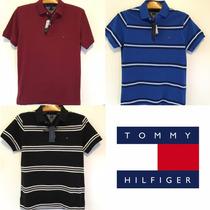 Camisa Polo Tommy Hilfiger Masculina Original Slim Fit Pique