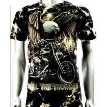 Camisa Survivor Rock Eagle Moto Tam G