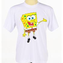 Camisa Camiseta Personalizada Bob Esponja Infantil