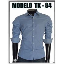 Camisa Social Slim Marca Tng Original, Modelo Tk84 A Tk86,