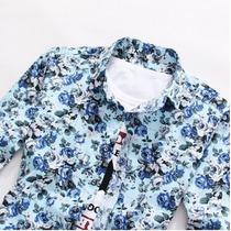 Camisa Florida Azul