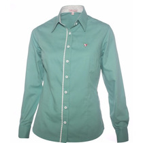 Camisa Verde Social Feminina Taynah - Pimenta Rosada
