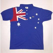 Camisa Polo Lacoste País Austália Com Brasão Bordado
