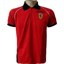 Camisa Polo Ferrari Escuderia F1 Camiseta Vermelha