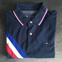 Camisa Polo Tommy - Original - Tam. G - Cor Azul